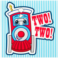 Two-Two Train 2nd Birthday Lunch Napkins