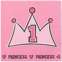 Lil' Princess 1st Birthday Napkins