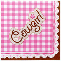 Pink Cowgirl Lunch Napkins
