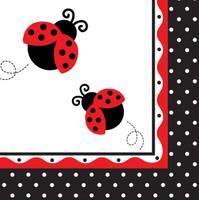 LadyBug Fancy Lunch Napkins