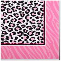 Diva Zebra Print Lunch Napkins