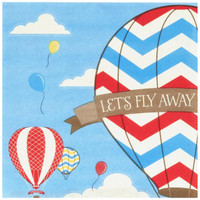 Up, Up and Away Lunch Napkins