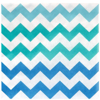 Chevron Blue Lunch Napkins