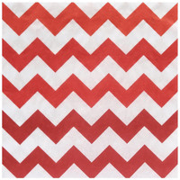 Chevron Red Lunch Napkins