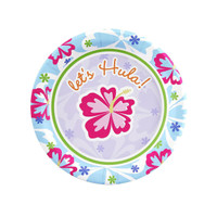 Hawaiian Girl Dessert Plates
