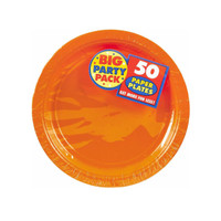 Orange Peel Big Party Pack Dessert Plates