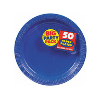 Bright Royal Blue Big Party Pack Dessert Plates