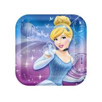 Disney Cinderella Sparkle Square Shaped Dessert Plates