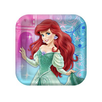 Disney The Little Mermaid Sparkle Square Dessert Plates