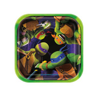 Nickelodeon Teenage Mutant Ninja Turtles Square Dessert Plates