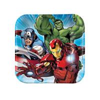 Avengers Assemble Squared Dessert Plates Asst.