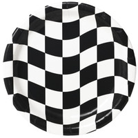 Black and White Check Dinner Plates