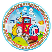 Two-Two Train 2nd Birthday Dinner Plates