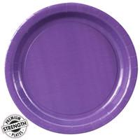 Perfect Purple (Purple) Paper Dinner Plates