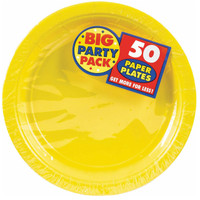 Yellow Sunshine Big Party Pack Dinner Plates