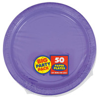 New Purple Big Party Pack Dinner Plates