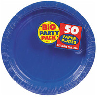 Bright Royal Blue Big Party Pack Dinner Plates