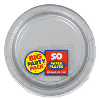 Silver Big Party Pack Dinner Plates