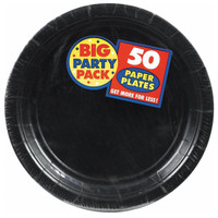 Black Big Party Pack Dinner Plates