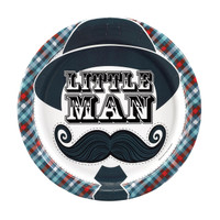Little Man Mustache Dinner Plates