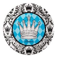 Elegant Prince Damask Dinner Plates