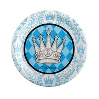 Elegant Prince Damask 1st Birthday Dinner Plates