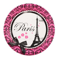Paris Damask Dinner Plates