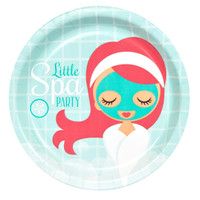 Little Spa Party Dinner Plates