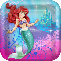Disney The Little Mermaid Sparkle Square Dinner Plates