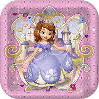 Disney Junior Sofia the First Square Dinner Plates