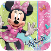 Disney Minnie Dream Party Square Dinner Plates