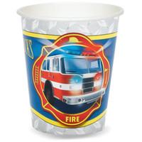 Fire Trucks 9 oz. Cups
