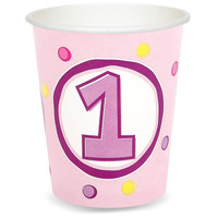 Girl's Lil' Cupcake 1st Birthday 9 oz. Cups