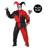 Vile Jester Adult Plus Costume