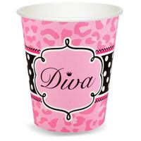Diva Zebra Print 9 oz. Paper Cups