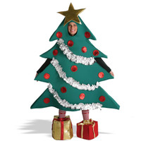 Christmas Tree with Shoe Boxes Adult Costume