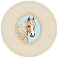Ponies Round Activity Placemats (4)