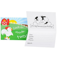 Barnyard 2nd Birthday Invitations