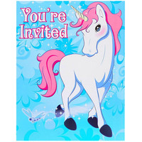 Enchanted Unicorn 2nd Birthday Invitations