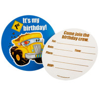 Construction Pals 1st Invitations