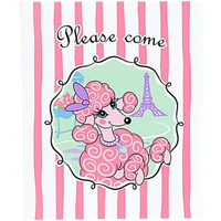 Pink Poodle in Paris Invitations