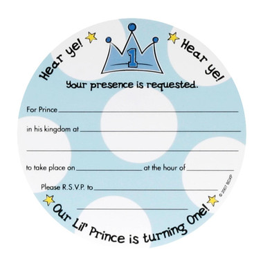 Lil Prince 1st Birthday Invitations