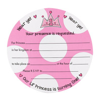 Lil' Princess 1st Birthday Invitations