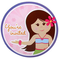 Hawaiian Girl Invitations