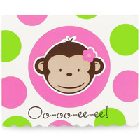 Pink Mod Monkey Invitations