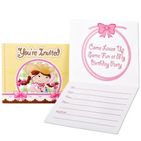 Pink Cowgirl Invitations