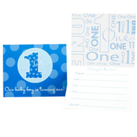Everything One Boy Invitations