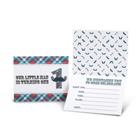 Little Man Mustache 1st Invitations
