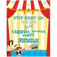 Carnival Games Invitations