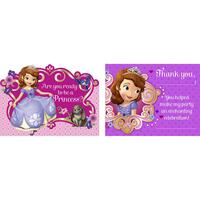 Disney Junior Sofia the First Invitations & Thank-You Postcards